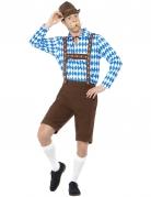 Déguisement bavarois bleu et marron adulte