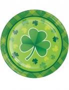 8 Petites assiettes en carton St Patrick 18 cm