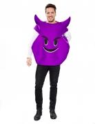 Déguisement émoticône diable violet adulte
