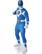 Déguisement seconde peau Power rangers ™ bleu adulte