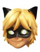 Masque carton Chat noir Miraculous™ enfant