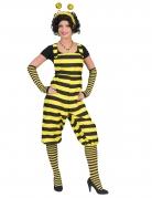 Déguisement salopette abeille adulte