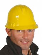 Casque ouvrier du batiment jaune adulte