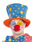 Chapeau haut de forme à pois clown adulte