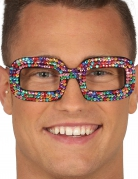 Lunettes pop multicolores adulte