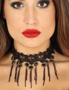 Ras de cou gothique noir sexy femme