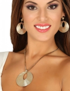 Collier et boucles d'oreilles déesse grecque femme