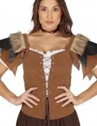 Corsage médiéval marron femme