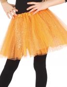 Tutu orange à paillettes fille