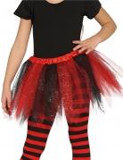 Tutu bicolore noir et rouge à paillettes fille