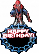 Gros ballon aluminium Spider-Man ™ 58 x 86 cm