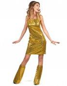 Déguisement Disco doré à sequins femme