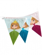 Guirlande en plastique fanions princesse 270 cm