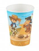 6 Gobelets Cowboy et Indien 25 cl
