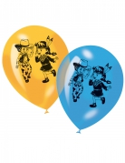 6 Ballons en latex cow-boy et indien 30 cm