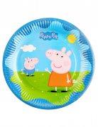 6 Assiettes en carton Peppa Pig™ 23 cm
