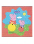 20 Serviettes en papier Peppa Pig™ 33 x 33 cm