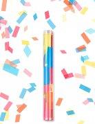 Canon à confettis rectangle multicolore 27 cm