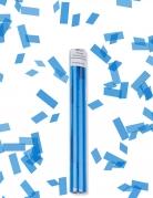 Canon à confettis rectangle bleu turquoise 27 cm