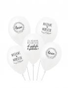 5 Ballons latex biodégradable Il était une fois 27 cm