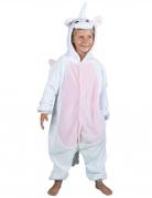 Déguisement combinaison licorne blanche enfant