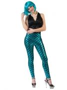 Legging sirène bleu femme