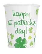 8 Gobelets Happy St Patrick's Day 25 cl
