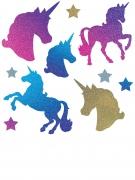 10 Découpes de Licornes en cartons pailletées