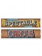 2 Banderoles Cirque Vintage 38 cm x 1,5 m