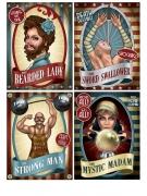 4 Affiches de Cirque Vintage 38 cm