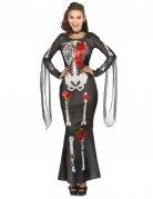 Déguisement robe squelette femme Dia De los Muertos