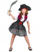 Déguisement pirate imprimé tête de mort fille