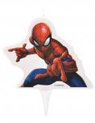 Bougie d'anniversaire Spiderman ™ 9 x 7 cm