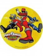 Disque jaune azyme Power Rangers ™ 21 cm