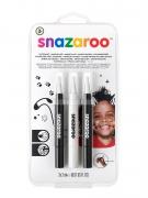 Set de stylos pinceaux Noir et Blanc enfant