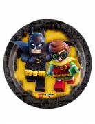 8 Petites assiettes en carton Lego Batman™ 18 cm
