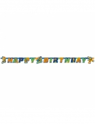 Bannière en carton Happy Birthday Tortues Ninja™ 180 x 15 cm