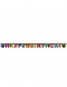 Guirlande en carton Happy Birthday Smiley World™ 182 x 12 cm