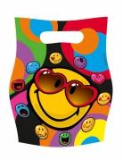 6 sacs cadeaux Smiley World™ 16 x 23 cm