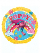 Petit ballon aluminium Poppy Les Trolls™ 23 cm