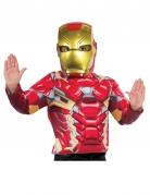 Demi-masque plastique Iron Man™ enfant