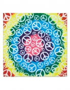Bandana Hippie Peace multicolore 55 x 55 cm