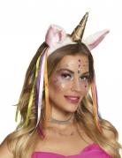 Serre-tête licorne avec bandes flashy femme