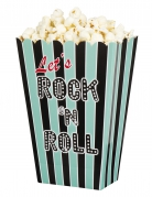 4 Pots pop corn Rock'n roll 33 x 23 x 17 cm