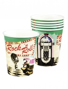 6 Gobelets Rock'n roll 25 cl