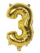 Vous aimerez aussi : Ballon aluminium chiffre 3 doré 36 cm