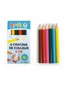 6 Crayons de couleur 9 cm
