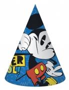 6 Chapeaux de fête en carton Mickey™ rétro