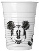 Vous aimerez aussi : 25 Gobelets en plastique Mickey™ rétro noir et blanc 200 ml