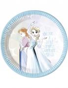 8 Assiettes en carton La Reine des Neiges™ pastel 23 cm